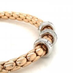 PInk Gold 18 K Timeless Stretch Bracelet with diamonds - 1175976