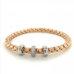 PInk Gold 18 K Timeless Stretch Bracelet with diamonds - 1175977