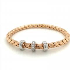PInk Gold 18 K Timeless Stretch Bracelet with diamonds - 1175978