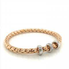 PInk Gold 18 K Timeless Stretch Bracelet with diamonds - 1175979