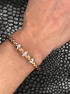 PInk Gold 18 K Timeless Stretch Bracelet with diamonds - 1177291