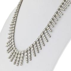 PLATINUM 18K WHITE GOLD 23 CARAT DIAMOND BIB NECKLACE - 2153011