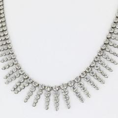 PLATINUM 18K WHITE GOLD 23 CARAT DIAMOND BIB NECKLACE - 2153012