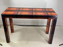 POP ART RESIN LAMINATED COLORFUL PLAID CONSOLE TABLE - 1133492