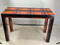 POP ART RESIN LAMINATED COLORFUL PLAID CONSOLE TABLE - 1133493