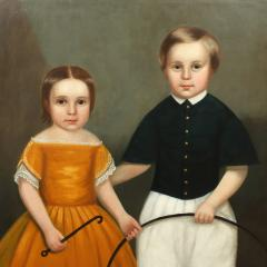 PORTRAIT OF CHARLES FITCH AND SISTER - 1856513