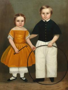 PORTRAIT OF CHARLES FITCH AND SISTER - 1858161