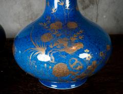 POWDER BLUE CHINESE VASES - 691190