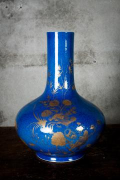 POWDER BLUE CHINESE VASES - 691191