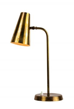 Paavo Tynell 1950s Finnish Brass Table Lamp in the Manner of Paavo Tynell - 1405121