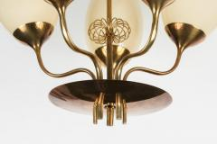 Paavo Tynell 1950s Paavo Tynell Five Glass Chandelier for Taito Oy - 517441