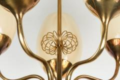 Paavo Tynell 1950s Paavo Tynell Five Glass Chandelier for Taito Oy - 517445