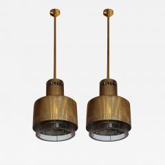 Paavo Tynell A pair of brass and glass chandeliers by Paavo Tynell Italy 50 - 998612