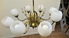 Paavo Tynell Brass Chandelier by Paavo Tynell For Limburg - 1570490