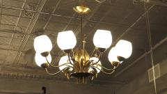 Paavo Tynell Brass Chandelier by Paavo Tynell For Limburg - 1570496