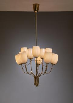 Paavo Tynell Paavo Tynell Chandelier for Sokos Helsinki House Taito Finland 1950s - 1027366