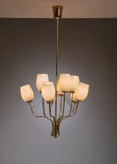 Paavo Tynell Paavo Tynell Chandelier for Sokos Helsinki House Taito Finland 1950s - 1027367