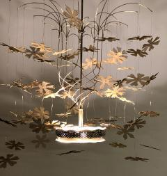 Paavo Tynell Paavo Tynell Fantasia Snowflake Chandelier Stamped Taito Oy Rare Important - 1741045