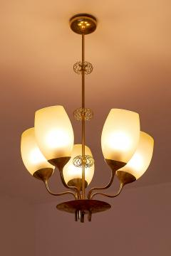 Paavo Tynell Paavo Tynell Five Arm Brass Chandelier Designed for Kuopio Hospital Taito 1949 - 877800
