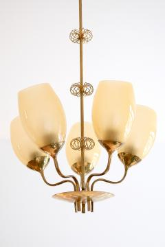 Paavo Tynell Paavo Tynell Five Arm Brass Chandelier Designed for Kuopio Hospital Taito 1949 - 877801