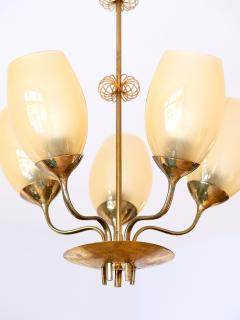 Paavo Tynell Paavo Tynell Five Arm Brass Chandelier Designed for Kuopio Hospital Taito 1949 - 877803
