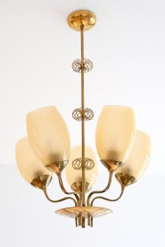 Paavo Tynell Paavo Tynell Five Arm Brass Chandelier Designed for Kuopio Hospital Taito 1949 - 877804