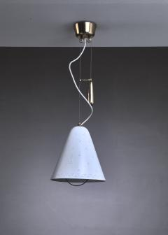 Paavo Tynell Paavo Tynell Height Adjustable Counterweight Chandelier In White Finland 1950s - 938298
