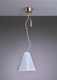 Paavo Tynell Paavo Tynell Height Adjustable Counterweight Chandelier In White Finland 1950s - 938299