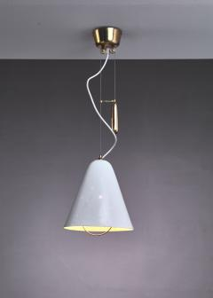 Paavo Tynell Paavo Tynell Height Adjustable Counterweight Chandelier In White Finland 1950s - 938300