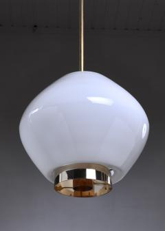 Paavo Tynell Paavo Tynell Rare Opaline Glass Pendant for Idman Finland 1950s - 970622