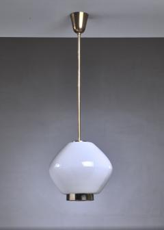 Paavo Tynell Paavo Tynell Rare Opaline Glass Pendant for Idman Finland 1950s - 970625