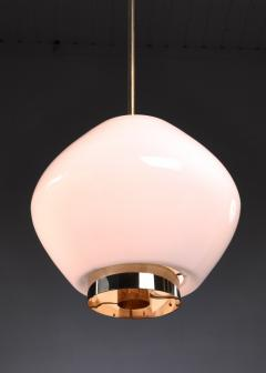 Paavo Tynell Paavo Tynell Rare Opaline Glass Pendant for Idman Finland 1950s - 970626