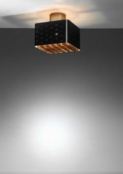 Paavo Tynell Paavo Tynell black square flush mount for Idman Finland - 754825