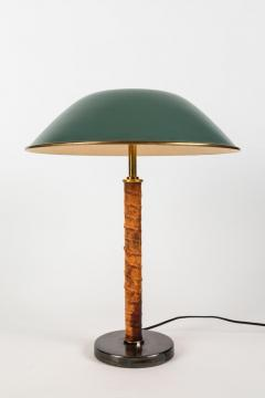 Paavo Tynell Pair of 1940s Finnish Brass and Leather Table Lamps - 1193273