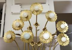 Paavo Tynell Pair of Floral 9 Light Sconces in the Style of Paavo Tynell - 1528511