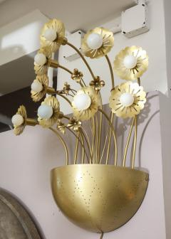 Paavo Tynell Pair of Floral 9 Light Sconces in the Style of Paavo Tynell - 1528512