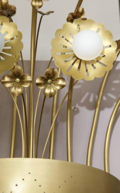 Paavo Tynell Pair of Floral 9 Light Sconces in the Style of Paavo Tynell - 1528515