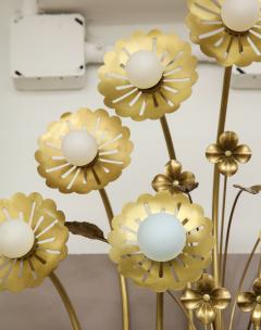 Paavo Tynell Pair of Floral 9 Light Sconces in the Style of Paavo Tynell - 1528516