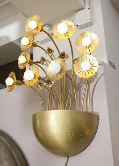 Paavo Tynell Pair of Floral 9 Light Sconces in the Style of Paavo Tynell - 1528521