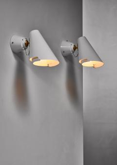 Paavo Tynell Pair of Paavo Tynell model 2351 wall lamps for Idman Finland - 1702384