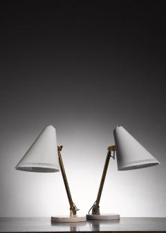 Paavo Tynell Pair of Paavo Tynell table lamps for Taito - 1594719