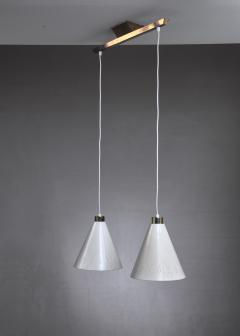 Paavo Tynell Rare Model K2 60 Double Pendant by Paavo Tynell Idman Finland 1950s - 920712