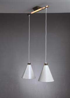 Paavo Tynell Rare Model K2 60 Double Pendant by Paavo Tynell Idman Finland 1950s - 920714