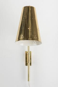 Paavo Tynell Rare Pair of 1950s Paavo Tynell Perforated Brass Wall Lights - 567956