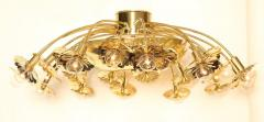 Paavo Tynell Style 24 Light Pierced Brass Ceiling Fixture - 1071619