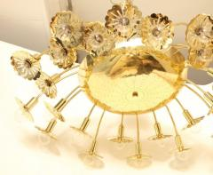 Paavo Tynell Style 24 Light Pierced Brass Ceiling Fixture - 1071620