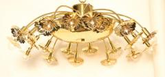 Paavo Tynell Style 24 Light Pierced Brass Ceiling Fixture - 1071621