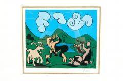 Pablo Picasso Dancing Animals Linocut - 1128731