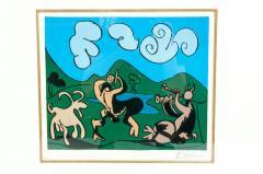 Pablo Picasso Dancing Animals Linocut - 1128737