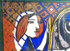 Pablo Picasso Picasso Unique Framed Scarf circa 1960 - 2003297